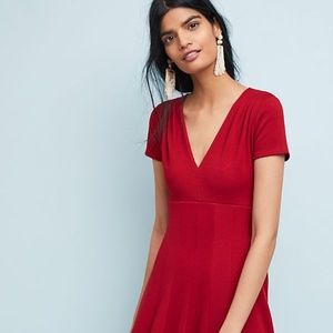 Anthropologie Maeve Lincoln Center Red Dress